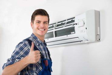 Equipo de aire acondicionado reparado