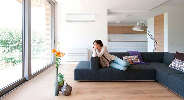 habitacion con instalacion de aire acondicionado